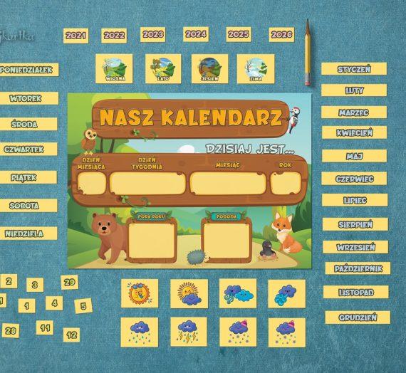 Kalendarz w leśnej wersji