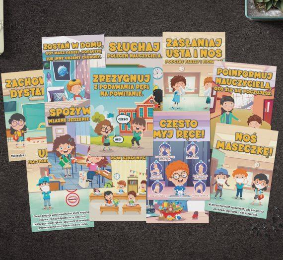Plakaty z wytycznymi MEiN, MZ i GIS dla szkół podstawowych – od 1 września 2021r.