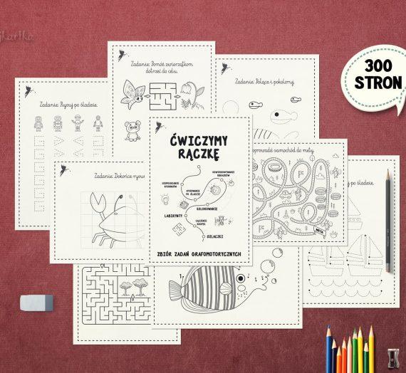 Ćwiczymy rączkę – zbiór zadań grafomotorycznych